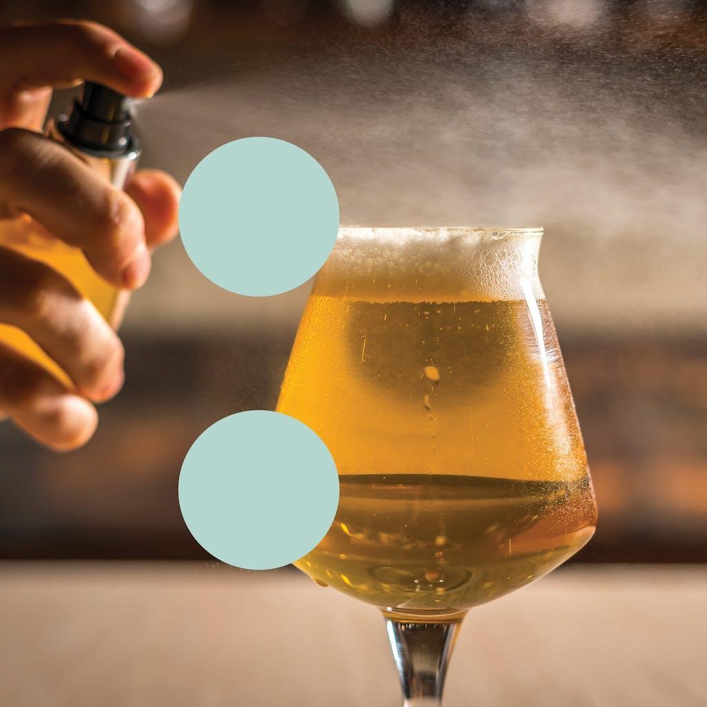 Protagonist Beer - beer misting glitch letter