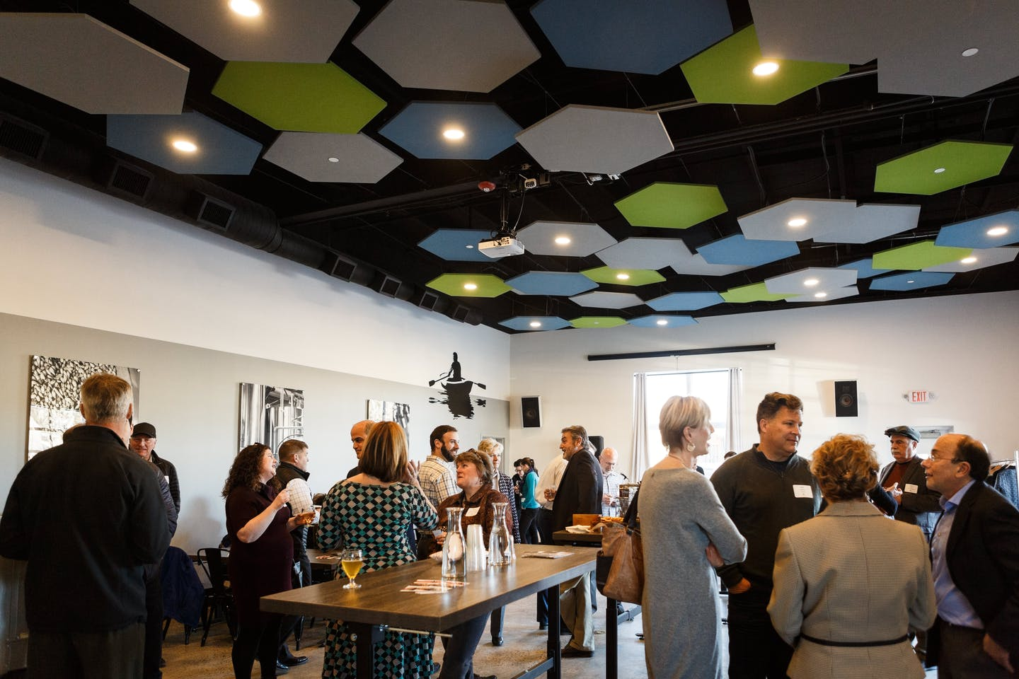 The Spotlight Event for the Institute for Family-Owned Business on Monday, April 9, 2018.  The event was spotlighting Rising Tide Brewing and was aptly held at their new East Room, which is available for events and weddings.  Owner Heather Sanborn spoke s