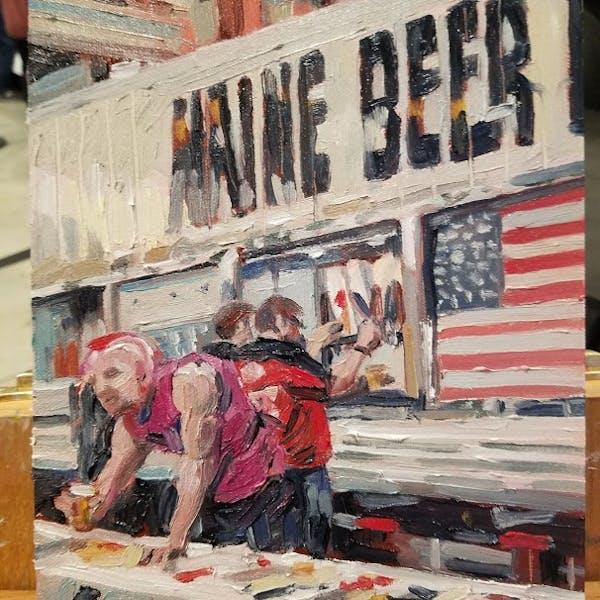 Julia Durgee Live Painting