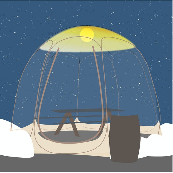 Bubbles and beer: Portland craft brewery will serve outside this winter in mini-tents