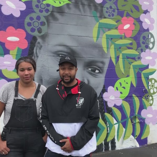 Portland artists create murals to honor, celebrate those who made East Bayside community 'as awesome as it is'