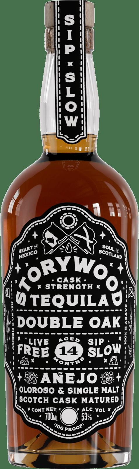 Storywood Double Oak anejo tequila