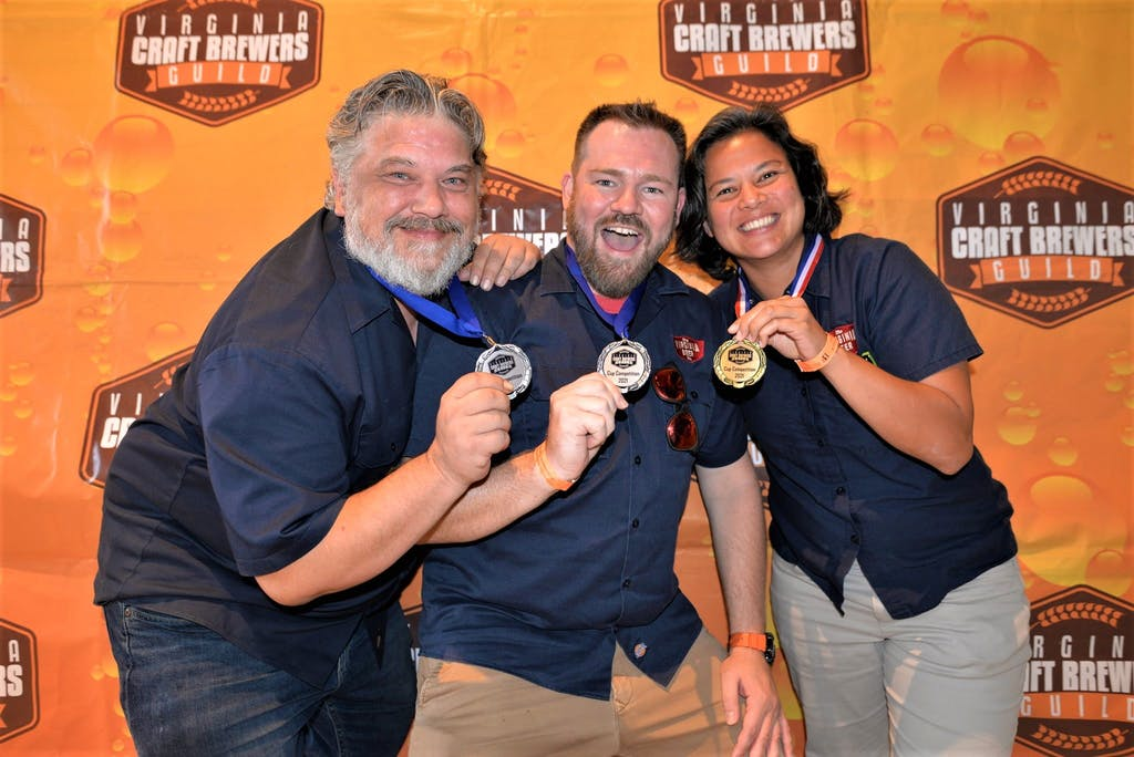 VBC's Medals at the 2021 VA Craft Beer Cup