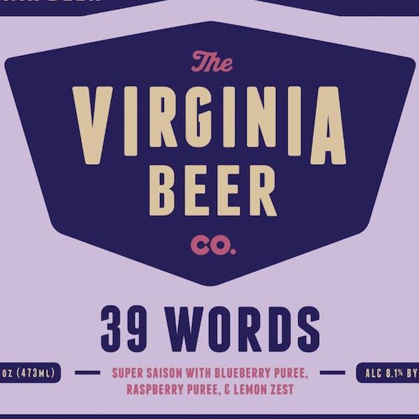 39 Words (2019) beer artwork
