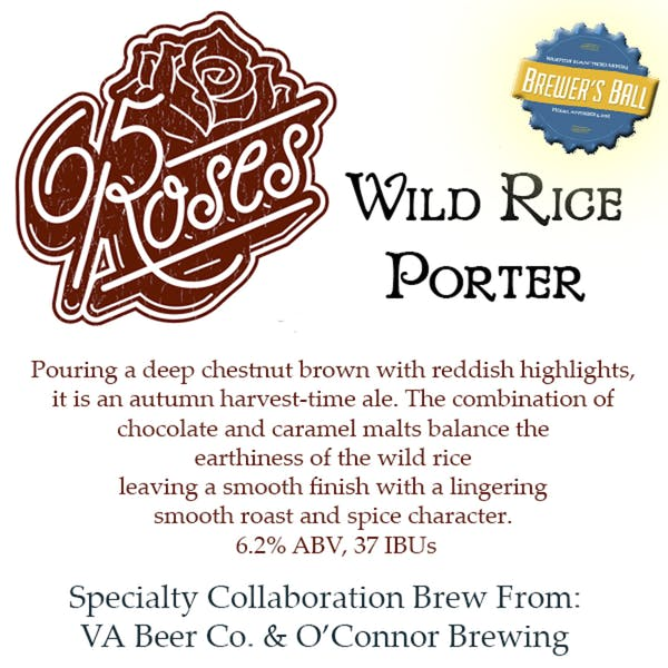 Image or graphic for 65 Roses Wild Rice Porter