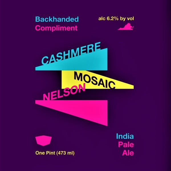 Backhanded Compliment IPA Label