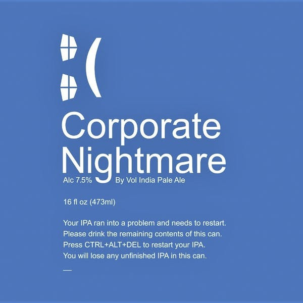 Corporate Nightmare beer artwork