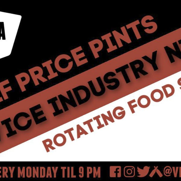 Industry Night Half Price Pints with FoodaTude Food Truck