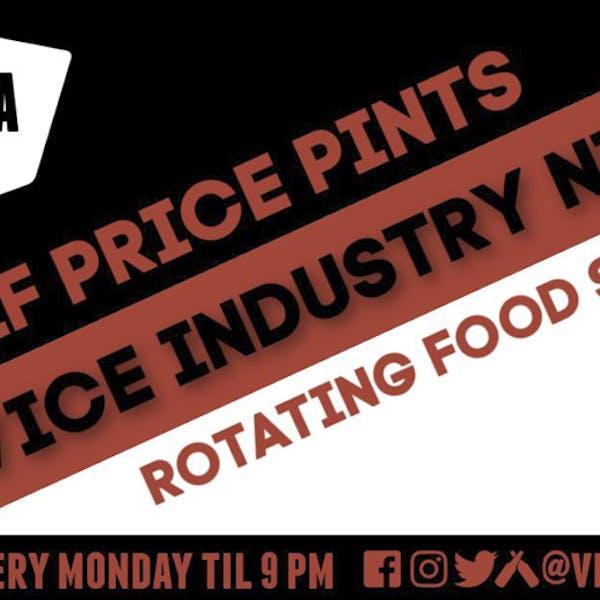 Industry Night Half Price Pints with FoodaTude Food Truck