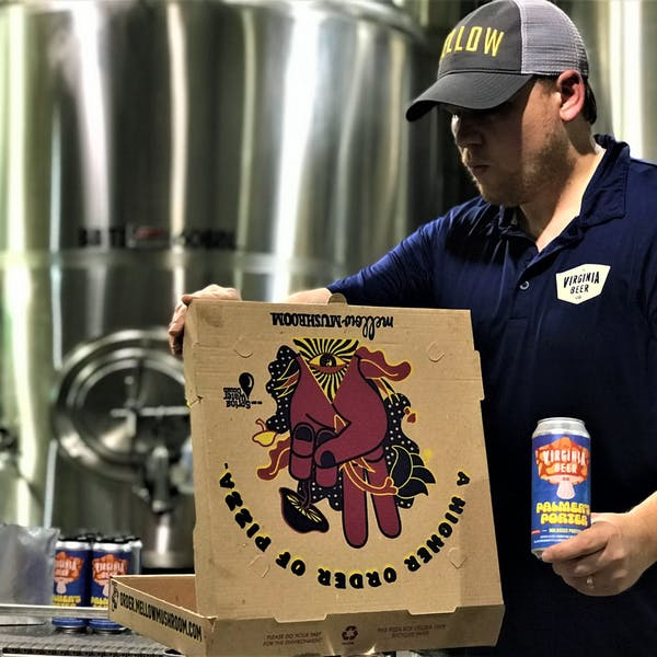 Mellow Mushroom Pizza pairs well with beer