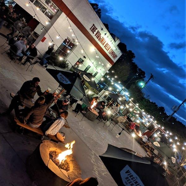 Beer Garden at Night