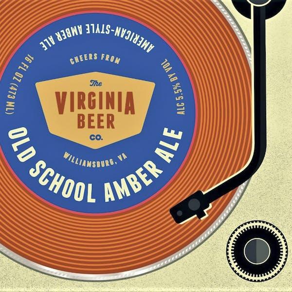 Old School Amber Ale beer artwork