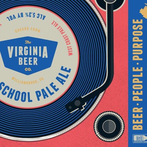 Old School Pale Ale beer artwork