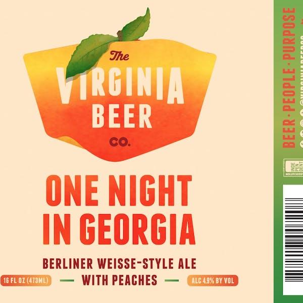 One Night In Georgia Peach Berliner Weisse