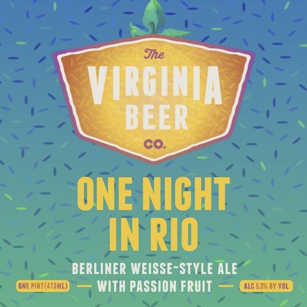 One Night In Rio beer artwork