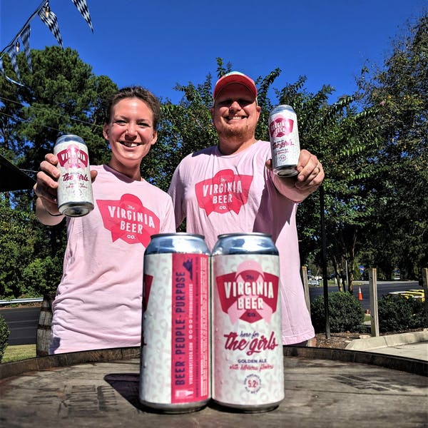 The Virginia Beer Company Releases Here for the Girls Golden Ale for Breast Cancer Awareness Month