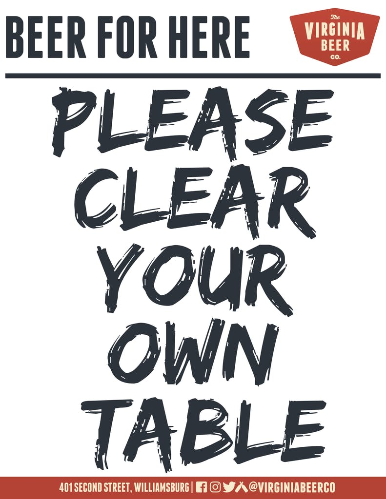 Please Clear Your Own Table