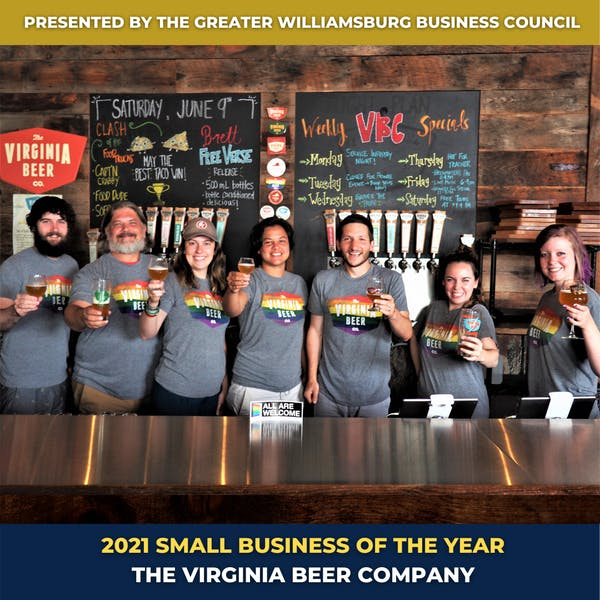 Virginia Beer Co. Named Williamsburg's 2021 Small Business of the Year