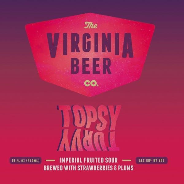 Topsy Turvy beer artwork