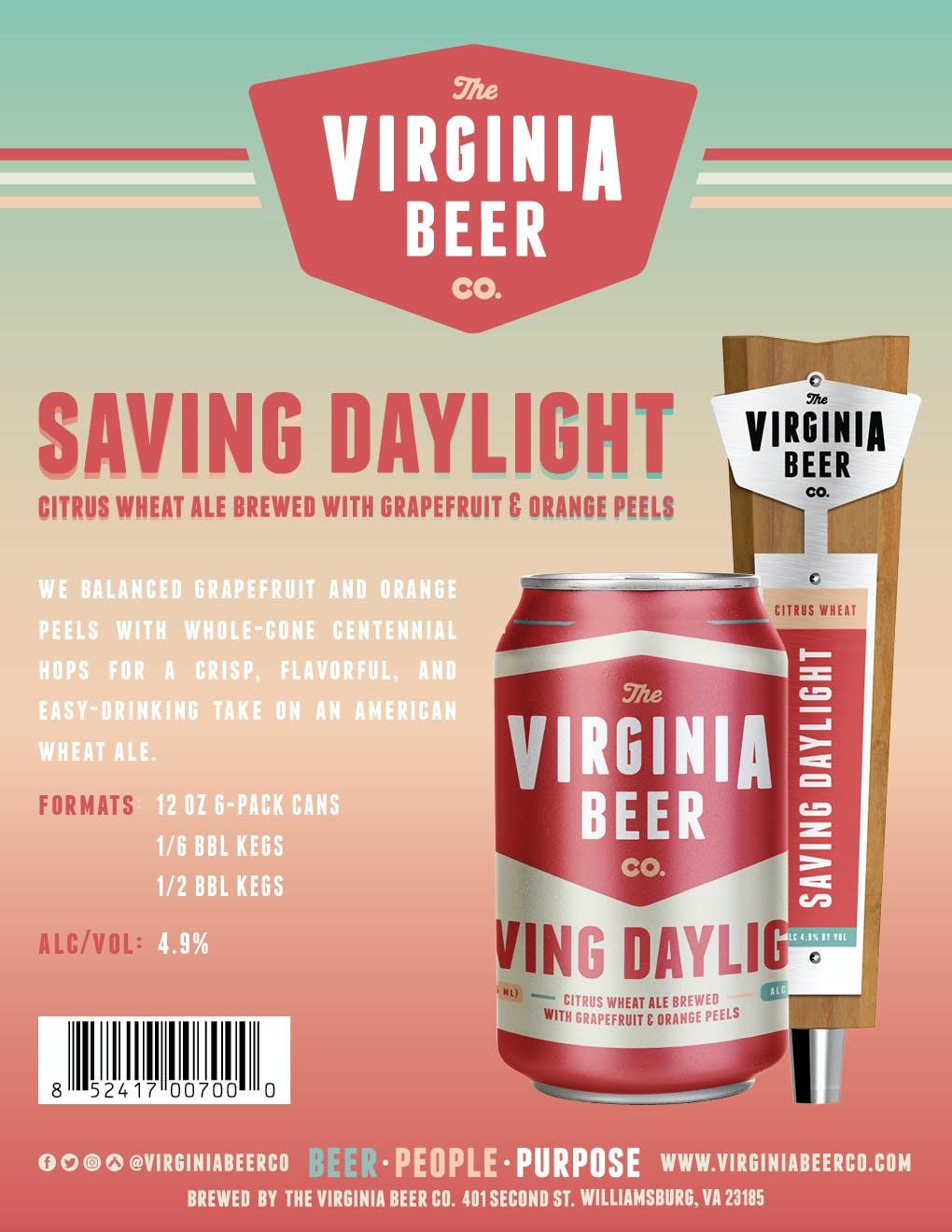 VBC Saving Daylight Sell Sheet
