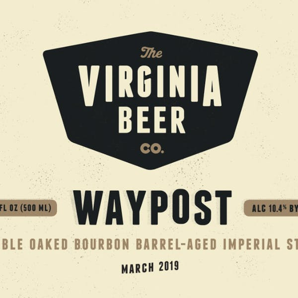 Waypost: Double Oaked Bourbon beer artwork