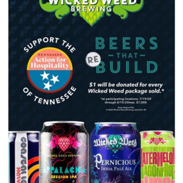 Wicked Weed Brewing Helps Out Tennessee Action for Hospitality