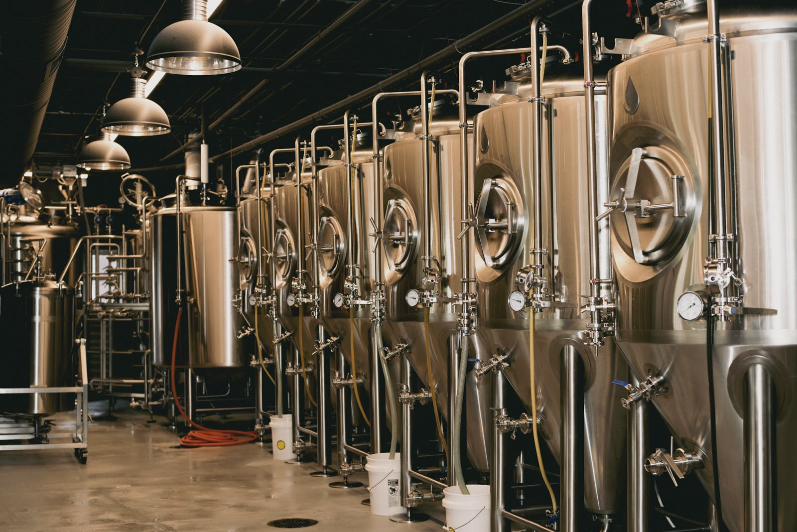 brewhouse and fermenters