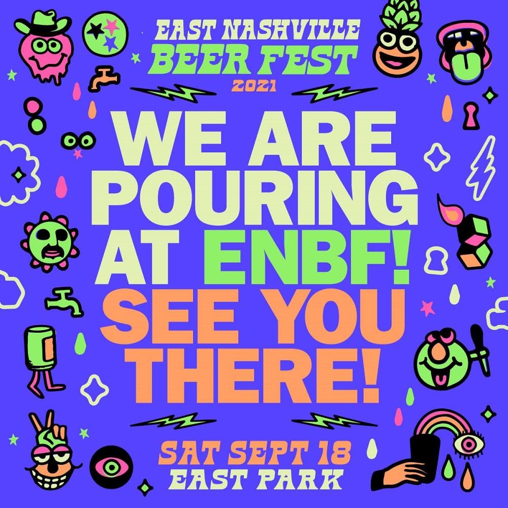 east nashville beer fest event flyer saturday september 18th